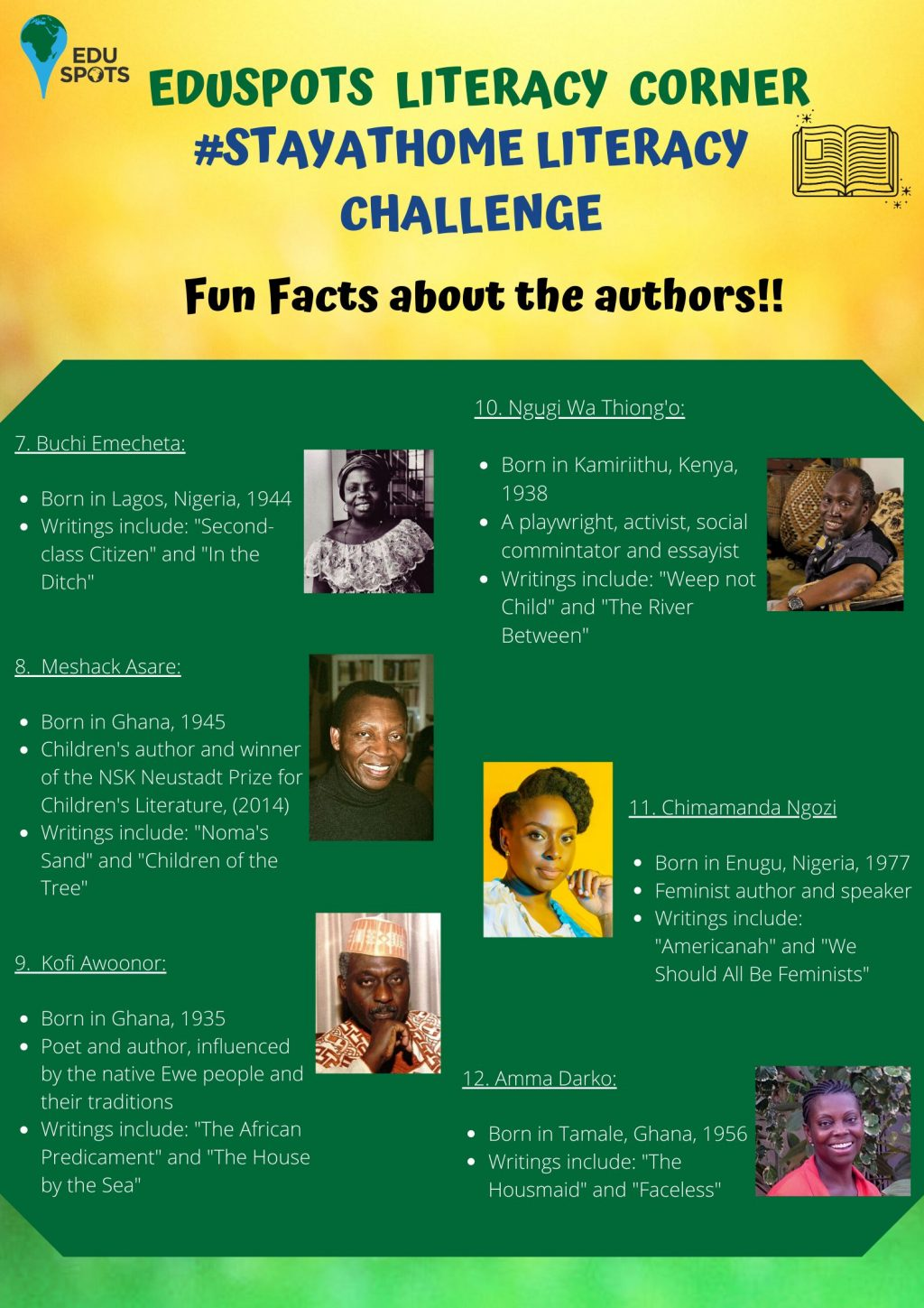 Puzzle on African authors