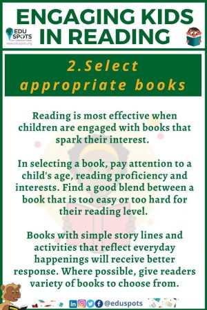 Ideas for engaging kids inreading