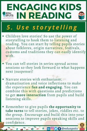 Review sight words and use storytelling